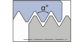 Резьба неполный профиль 60° и 55°