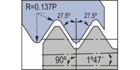 Британская трубная резьба BSPT 55° для паропроводов, газопроводов, водопроводов