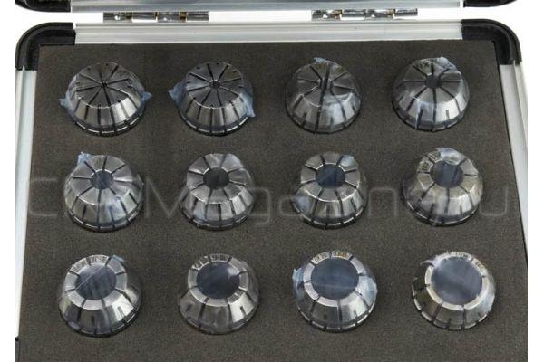 ER20AA-12 pcs набор цанг прецизионных в металлическом кейсе
