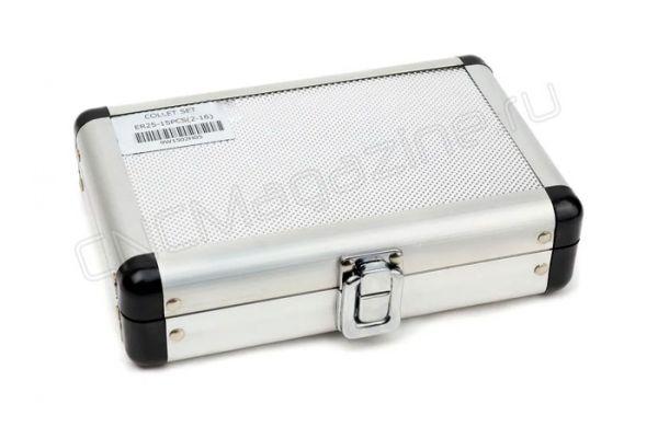 ER25AA-15 набор цанг высокой точности в металлическом кейсе