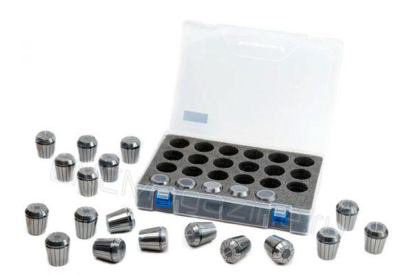 ER40-23 pcs набор цанг стандартной точности в пластиковой коробке